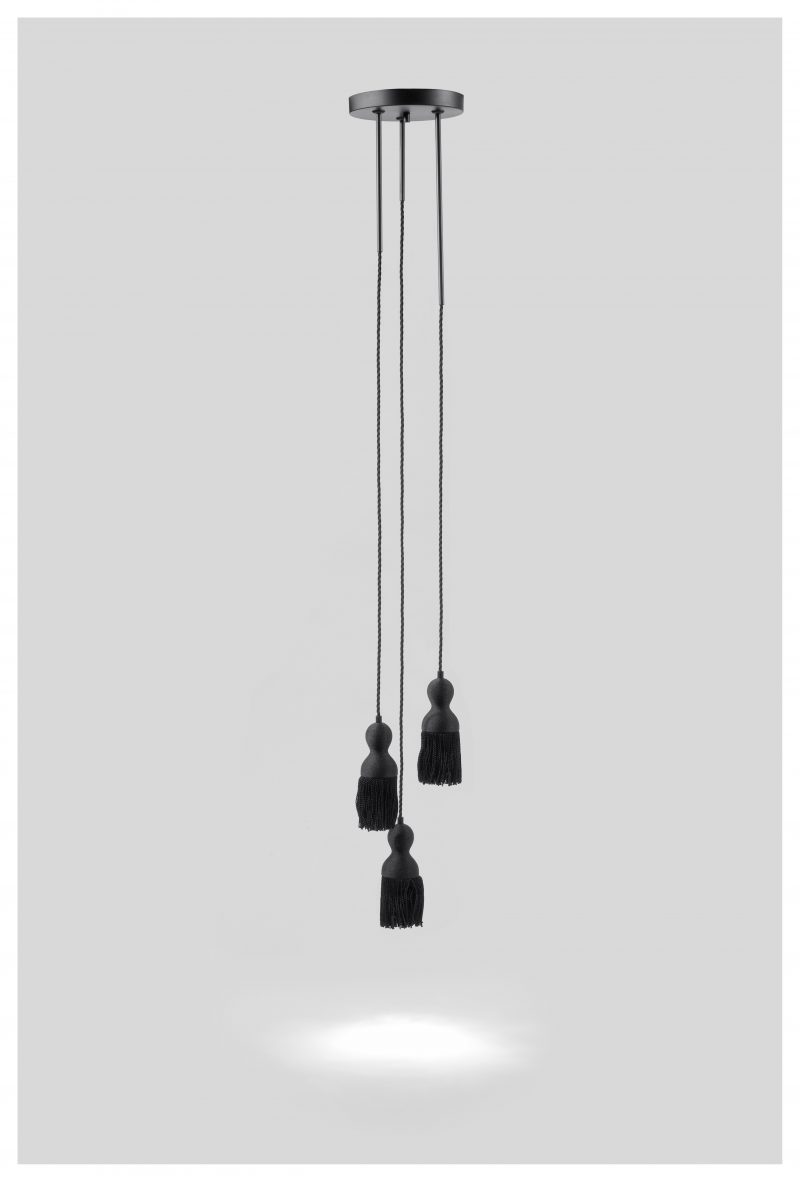 EMPIRE ceiling light x3 black